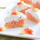 Lemon Candy Corn Bars | www.tasteandtellblog.com