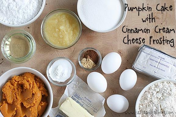 Pumpkin Cake with Cinnamon Cream Cheese Frosting   www.tasteandtellblog.com