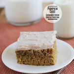 Pumpkin Cake with Cinnamon Cream Cheese Frosting | www.tasteandtellblog.com