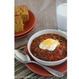 Pumpkin Chili {Slow Cooker} | www.tasteandtellblog.com
