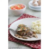 Cookbook of the Month Recipe – Mama's Salisbury Steak with Mushroom Gravy