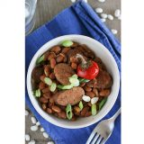 Slow Cooker Barbecue Beans with Sausage | www.tasteandtellblog.com