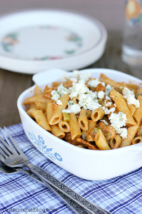 BBQ Chicken Pasta on www.tasteandtellblog.com