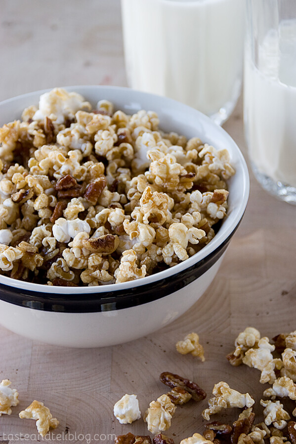 Pecan Pie Popcorn | Taste and Tell