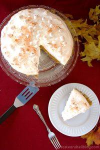 Sweet Potato Coconut Pie with Marshmallow Meringue   Taste and Tell