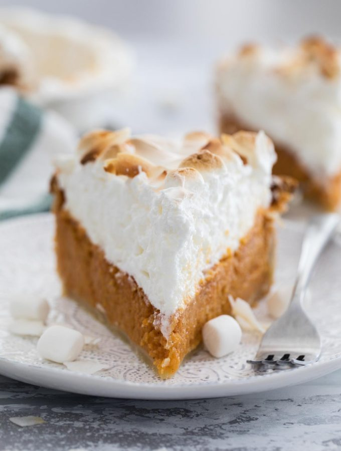Best Sweet Potato Pie Recipe with Marshmallow Coconut Meringue