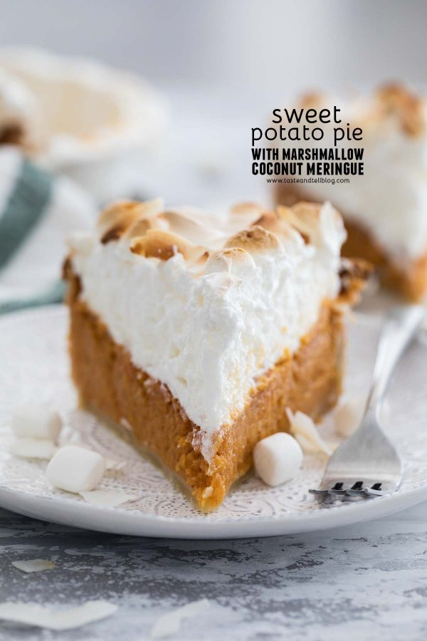Sweet Potato Pie with Marshmallow Coconut Meringue