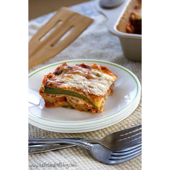 Zucchini Parmesan | www.tasteandtellblog.com #recipe #vegetarian