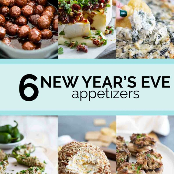 6 appetizer photos of recipes that are great for New Year's Eve