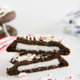 Double Chocolate Peppermint Surprise Cookies from www.tasteandtellblog.com