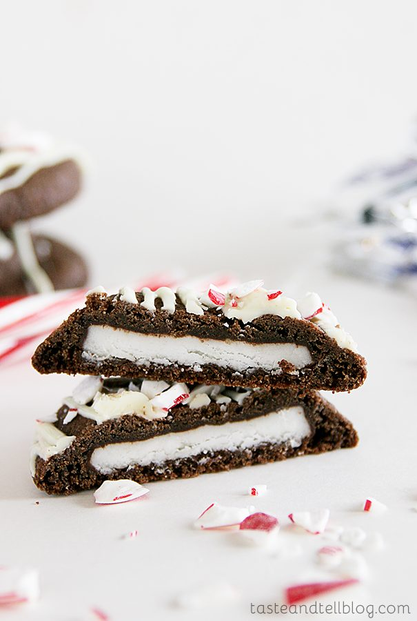 Double Chocolate Peppermint Surprise Cookies {Saturdays with Rachael Ray}