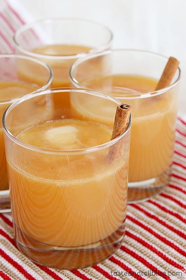 Hot Buttered Spiced Cider from www.tasteandtellblog.com