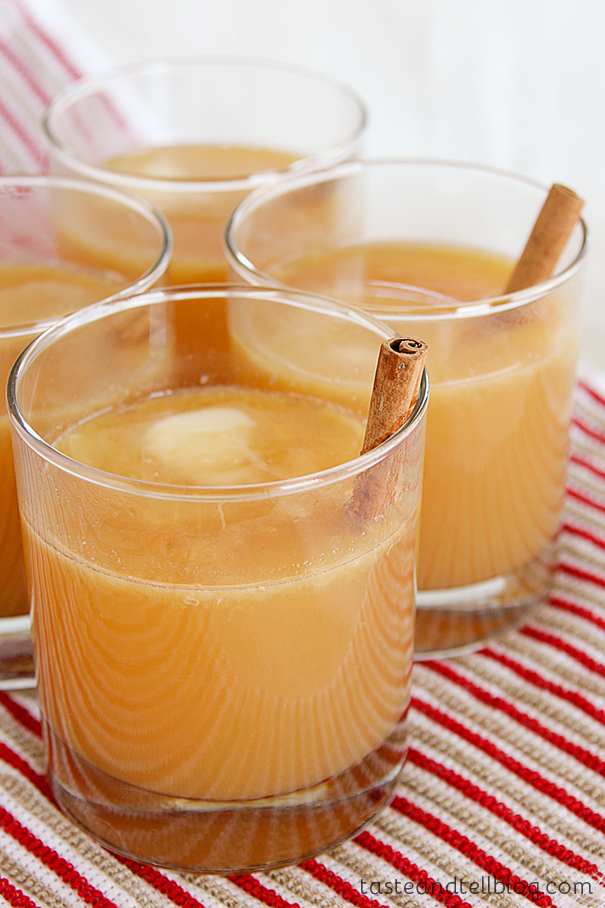 Hot Buttered Spiced Cider from www.tasteandtellblog.com