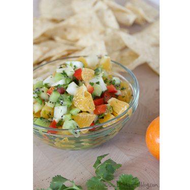 Kiwi and Tangerine Salsa | www.tasteandtellblog.com