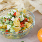 Kiwi and Tangerine Salsa from www.tasteandtellblog.com