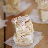 Little Peppermint Crispy Rice Squares   www.tasteandtellblog.com