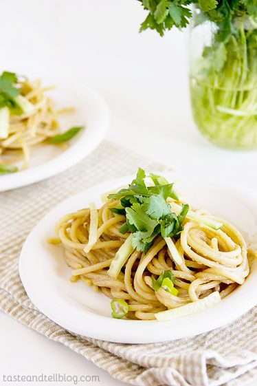 Noodles with BGSK Peanut Sauce on Taste and Tell