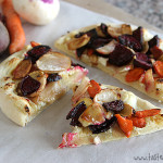Roasted Root Vegetable Pizza | www.tasteandtellblog.com