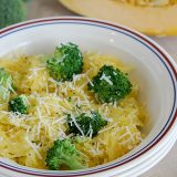 Broccoli and Spaghetti Squash with Lemon Pepper
