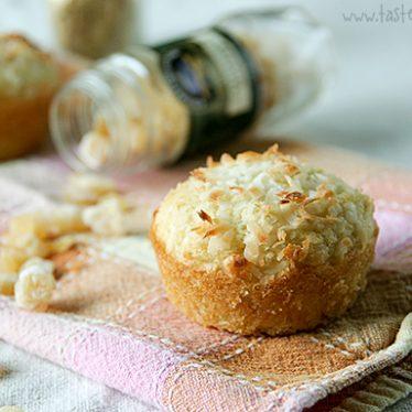 Coconut Ginger Muffins | www.tasteandtellblog.com