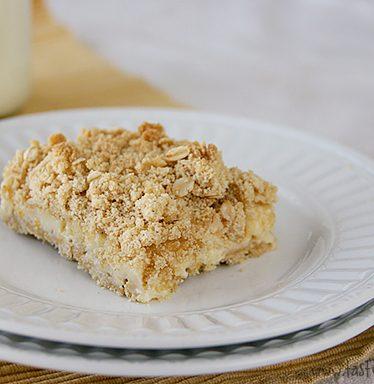 Creamy Meyer Lemon Crumb Squares | www.tasteandtellblog.com