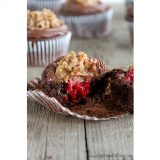 German Chocolate Cupcakes with Raspberry Filling | www.tasteandtellblog.com