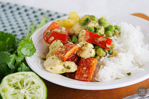 Green Chicken Curry from The Sparkpeople Cookbook