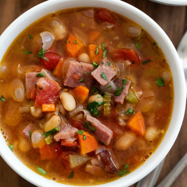Bowl of Ham and Bean Soup