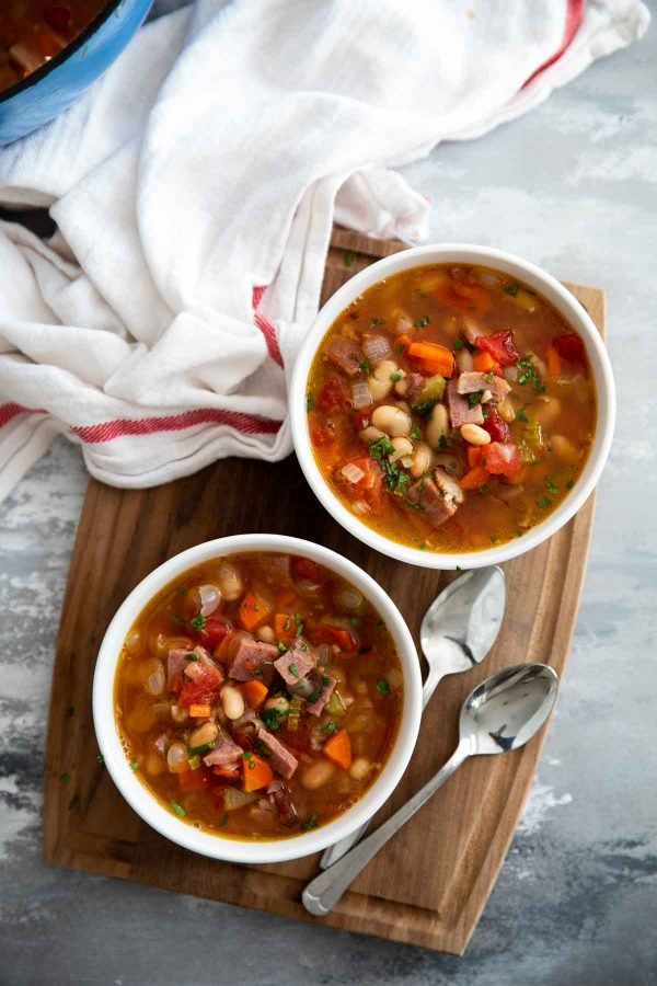Easy Ham and Bean Soup