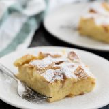 Slice of Overnight French Toast Casserole with Cream Cheese