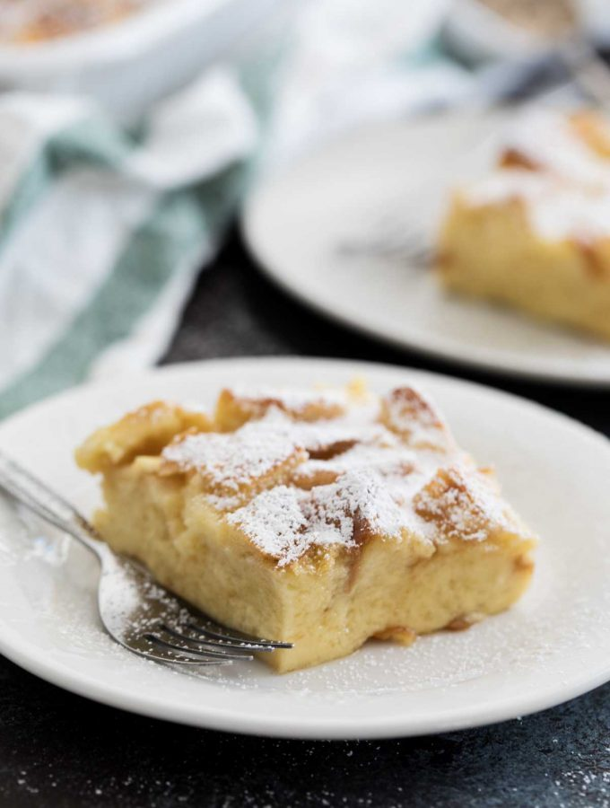 Overnight French Toast Casserole with Cream Cheese