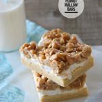 Peanut Mallow Bars | www.tasteandtellblog.com