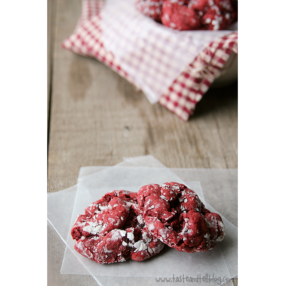 Red Velvet Gooey Butter Cookies | www.tasteandtellblog.com