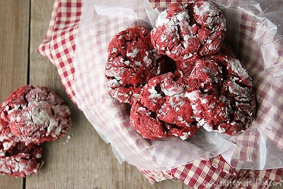 Red Velvet Gooey Butter Cookies | Taste and Tell