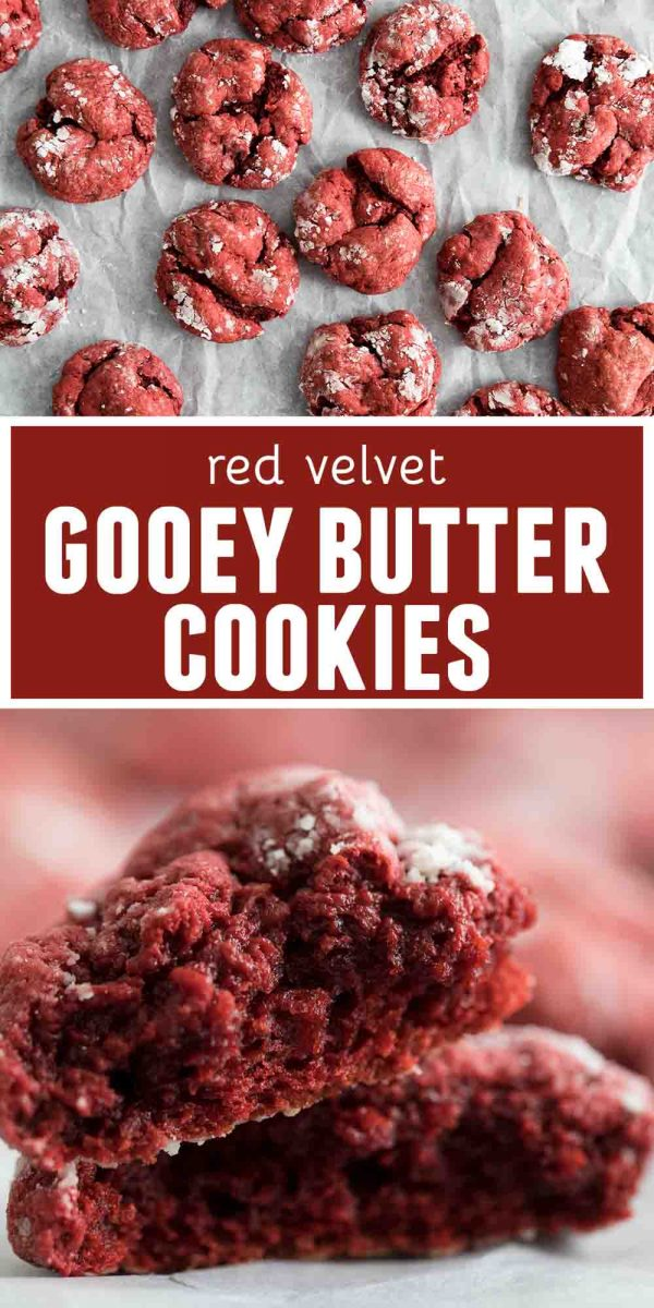 Recipe for Red Velvet Gooey Butter Cookies