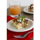 Sausage, Mushroom and Green Chile Casserole | www.tasteandtellblog.com