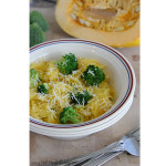 Spaghetti Squash with Broccoli | www.tasteandtellblog.com