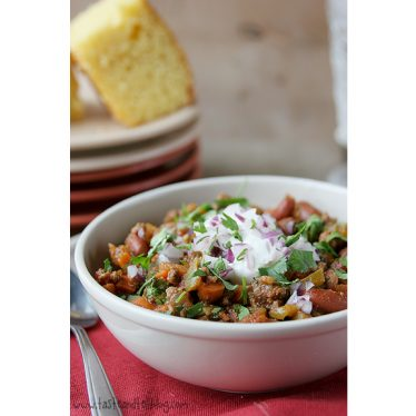 Beef, Bean and Vegetable Chili   www.tasteandtellblog.com