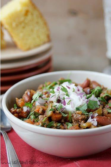 Beef, Bean and Vegetable Chili | www.tasteandtellblog.com