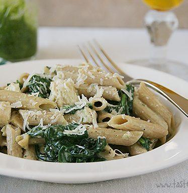 Florentine Pesto Chicken | www.tasteandtellblog.com