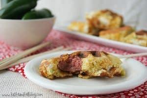 Jalapeno Popper Corn Dog Waffles | www.tasteandtellblog.com
