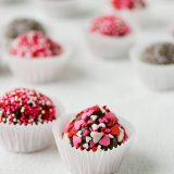 Raspberry Surprise Truffles on Taste and Tell