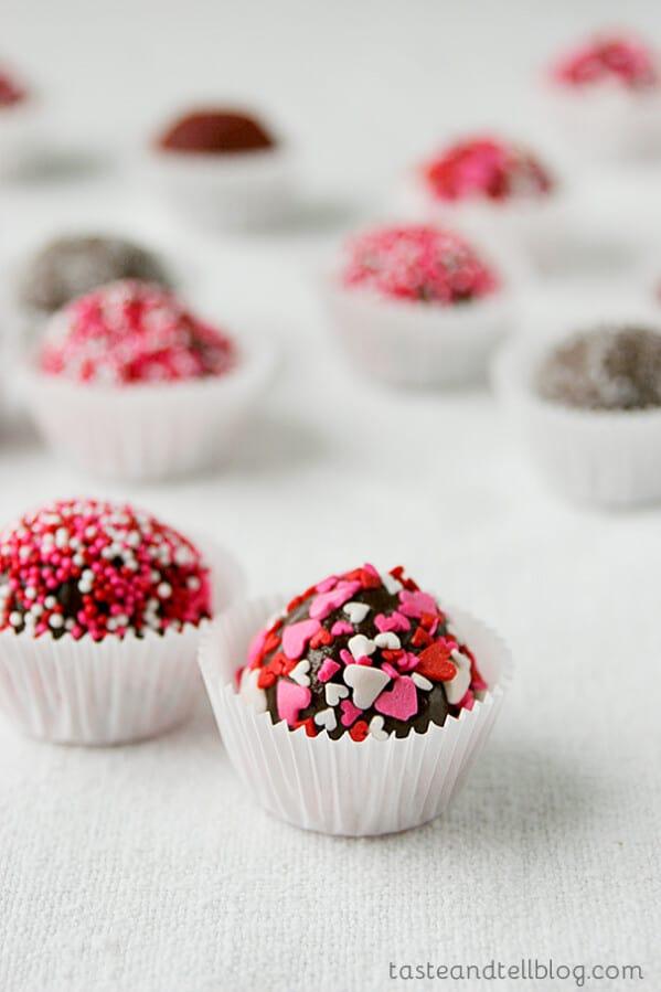 Raspberry Surprise Truffles on Taste and Tell