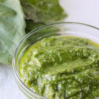 Basil Pesto Recipe on tasteandtellblog.com