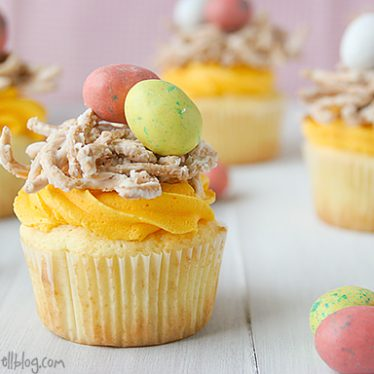 Bird's Nest Cupcakes | www.tasteandtellblog.com