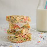 Cake Batter Blondies | www.tasteandtellblog.com