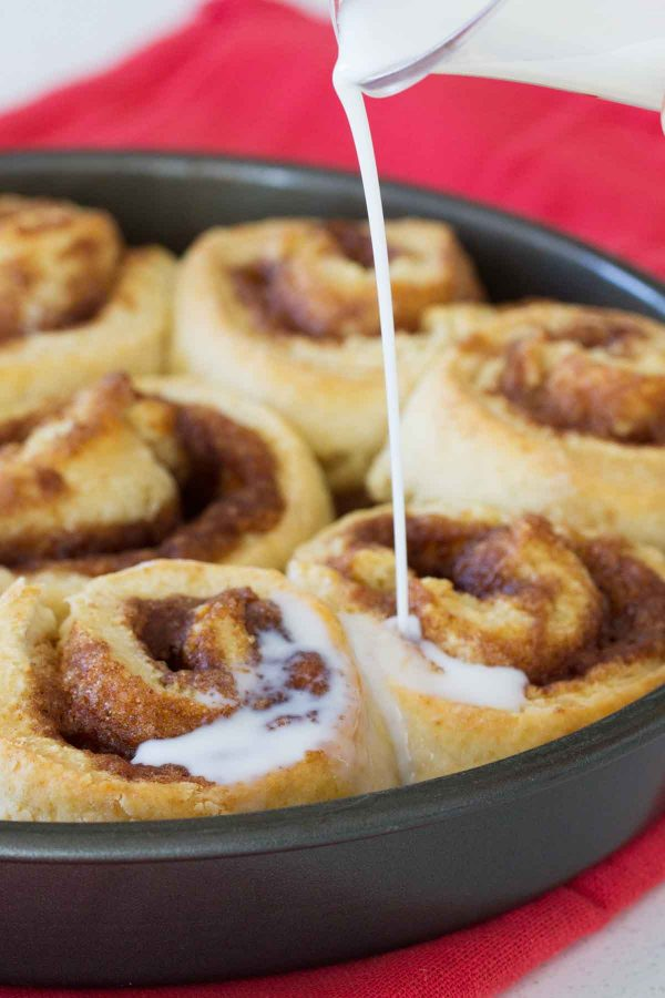 In the mood for cinnamon rolls but don't have the time? These Cinnamon Biscuits will become your new go-to - especially since they only take 35 minutes from start to finish!