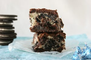 Cookies and Cream Cheese Brownies | www.tasteandtellblog.com