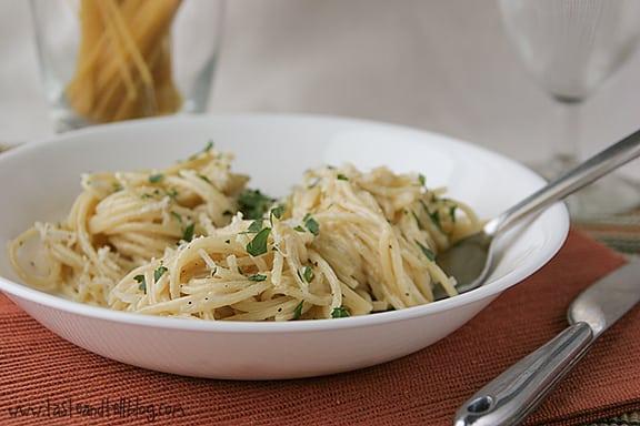 Easy Parmesan Pasta | www.tasteandtellblog.com