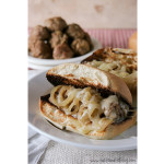 Saucy Onion Meatball Dip Subs | www.tasteandtellblog.com